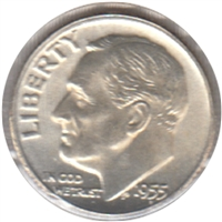 1955 USA Dime Choice Brilliant Uncirculated (MS-64)