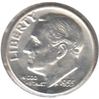 1955 D USA Dime Choice Brilliant Uncirculated (MS-64)