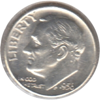 1956 D USA Dime Brilliant Uncirculated (MS-63)