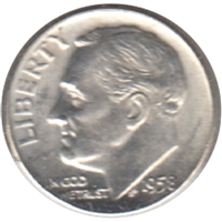 1958 D USA Dime Brilliant Uncirculated (MS-63)