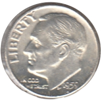 1959 D USA Dime Brilliant Uncirculated (MS-63)