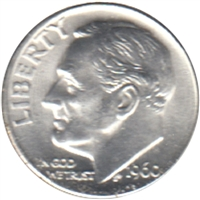 1960 D USA Dime Choice Brilliant Uncirculated (MS-64)