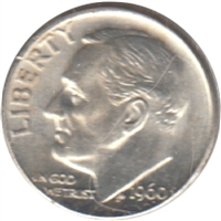 1960 D USA Dime Brilliant Uncirculated (MS-63)