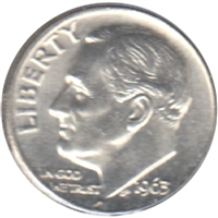 1963 USA Dime Choice Brilliant Uncirculated (MS-64)