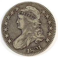 1821 USA Half Dollar VF-EF (VF-30)