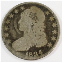 1834 Large Date Large Letters USA Half Dollar G-VG (G-6)