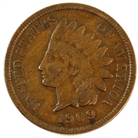 1909 S USA Indian Head Cent VF-EF (VF-30) $
