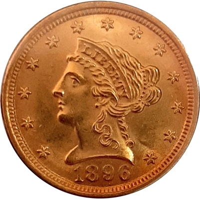 1896 USA $2.50 Gold UNC+ (MS-62)