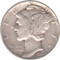 1937 USA Dime Circulated