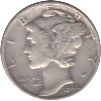 1942 USA Dime Circulated
