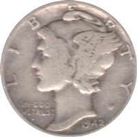 1942 D USA Dime Circulated