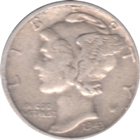 1943 USA Dime Circulated