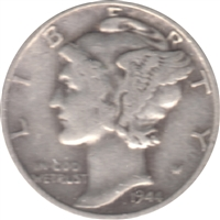 1944 D USA Dime Circulated