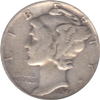 1944 S USA Dime Circulated