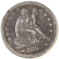 1853 Arrows & Rays USA Quarter Extra Fine (EF-40) $