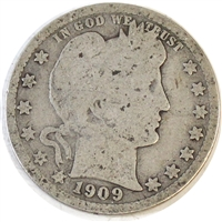 1909 D USA Quarter About Good (AG-3)