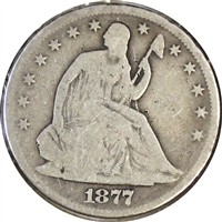 1877 USA Half Dollar Good (G-4)