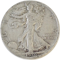 1936 USA Half Dollar F-VF- (F-15)