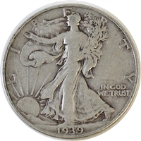 1939 D USA Half Dollar F-VF (F-15)