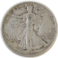 1942 S USA Half Dollar F-VF (F-15)