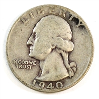 1940 USA Quarter Circulated