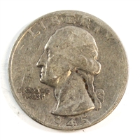 1945 S USA Quarter Circulated