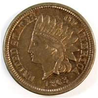 1863 USA Cent UNC+ (MS-62)