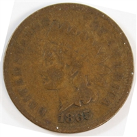1865 Fancy 5 USA Cent VG-F (VG-10)