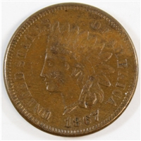 1867 USA Cent Almost Uncirculated (AU-50)