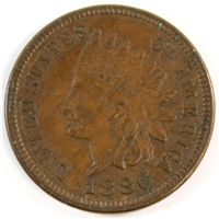 1886 Var. 1 USA Cent EF-AU (EF-45) $