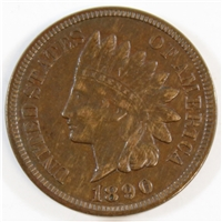1890 USA Cent EF-AU (EF-45)