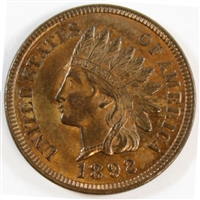 1892 USA Cent UNC+ (MS-62) $