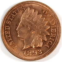 1893 USA Cent Brilliant Uncirculated (MS-63) $