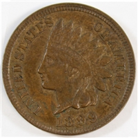1899 USA Cent Almost Uncirculated (AU-50)
