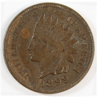 1899 USA Cent EF-AU (EF-45)