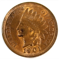 1901 USA Cent Brilliant Uncirculated (MS-63) $