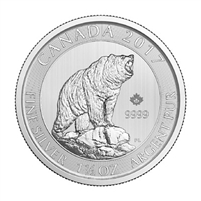 2017 $8 Canadian Grizzly Bear 1.5oz .9999 Silver (TAX Exempt)