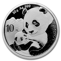 2019 China 10Y Panda 30g .999 Fine Silver (No Tax)