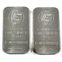 Pair of Engelhard 1oz .999 Silver Bars, 2Pcs (No Tax) Toned