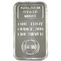 Golden State Mint 1oz Fine Silver Bar (No Tax)