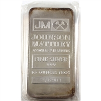 Johnson Matthey Assayers & Refiners 10oz .999 Fine Silver Bar (No Tax) May Be Toned