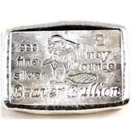 Beaver Bullion 2oz .999 Silver Bar (No Tax)