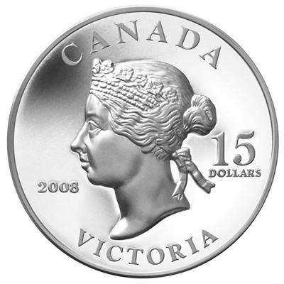 2008 Canada $15 Vignettes of Royalty - Queen Victoria Sterling Silver (#1)