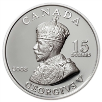 2008 Canada $15 Vignettes of Royalty - King George V Sterling Silver (#3)