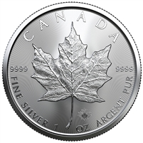2019 Canada $5 1oz. Silver Maple Leaf (TAX Exempt) DL-A
