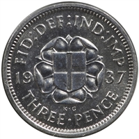 Great Britain 1939 3 Pence Extra Fine (EF-40)