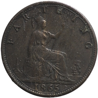 Great Britain 1865 Farthing VF-EF (VF-30)