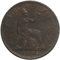 Great Britain 1886 Farthing VF-EF (VF-30)