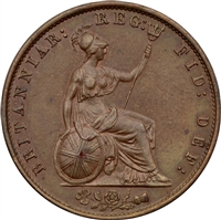 Great Britain 1857 1/2 Penny Almost Uncirculated