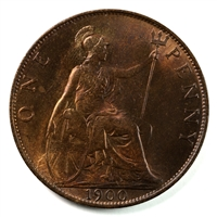 Great Britain 1900 Penny Brilliant Uncirculated